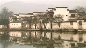 Kleine stad in Jiangnan, China stock video