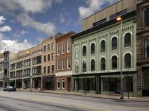Kleine Stad Main Street Stock Afbeelding