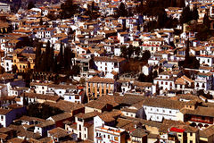 Kleine stad in Spanje stock afbeelding