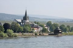 Kleine stad van oestrich-Winkel Stock Fotografie