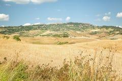 Kleine stad Volterra Stock Foto's