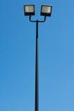 Kleine stadionlichten op een zonnige dag Stock Foto's