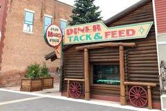 Kleine Stads Retro Diner, Hoge Rivier, Alberta, Canada royalty-vrije stock afbeelding