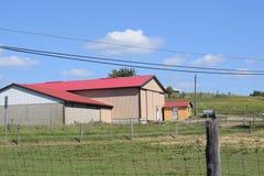 Kleine stadsfoto in landbouwgrond Royalty-vrije Stock Foto