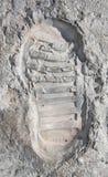 Kleine stap voor de mens - beeld van eerste stap op de maan Royalty-vrije Stock Fotografie