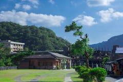 Kleine Station, Landschaft, Landschaft, Station, Japanisch-Ähnliches Gebäude Lizenzfreies Stockfoto