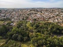 Kleine steden in Zuid-Amerika stock afbeelding