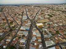 Kleine steden in Zuid-Amerika, stad van Botucatu in de staat van Sao Paulo, Brazilië stock afbeelding