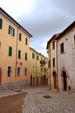 Kleine steeg in Sassoferrato Royalty-vrije Stock Fotografie