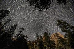 Kleine Sternspur innerer Bryce Canyon stockfoto