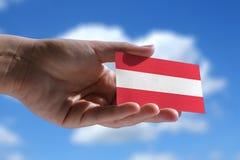 Kleine österreichische Flagge Lizenzfreies Stockfoto