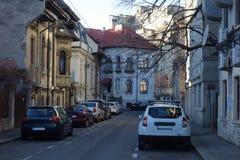 Kleine Straße in Bukarest Lizenzfreies Stockfoto