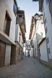 Kleine Straße in Candelario Stockbild
