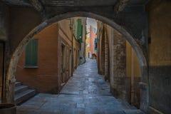 Kleine Straße in Frankreich Stockfoto