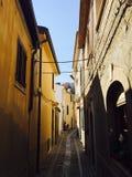 Kleine Straße von Scilla, Reggio di Calabria, Italien Lizenzfreies Stockbild