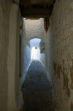 Kleine straat in Griekenland Stock Afbeelding