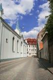 Kleine straat in oud Riga Royalty-vrije Stock Fotografie