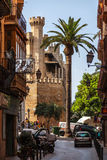 Kleine Straat in Palma DE Mallorca Stock Foto