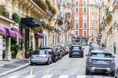 Kleine straat in Parijs Royalty-vrije Stock Fotografie