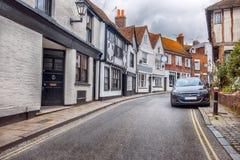 Kleine straat in Rogge, Sussex, het UK Stock Afbeeldingen