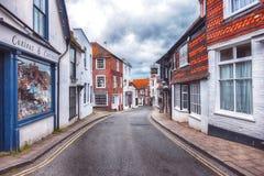 Kleine straat in Rogge, Sussex, het UK Royalty-vrije Stock Foto's