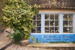 Kleine straat in Saint Tropez, Frankrijk Stock Afbeelding