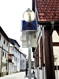 Kleine straat in stad de Zuid- van Duitsland Royalty-vrije Stock Afbeelding