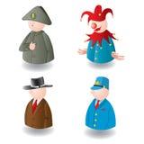 Kleine stuk speelgoed kleine mensen. Vector. Royalty-vrije Stock Fotografie