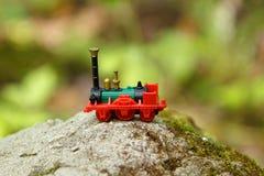Kleine stuk speelgoed trein Royalty-vrije Stock Foto's