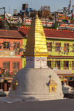 Kleine stupa in Boudhanath - Katmandu Stock Fotografie