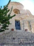 Kleine tempel in Cappadocia royalty-vrije stock fotografie