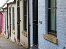 Kleine Terrashuizen, Sydney, Australië Royalty-vrije Stock Foto's
