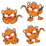 Kleine tijgers Stock Foto