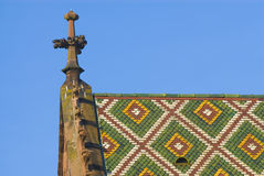 Kleine toren op Bazel Munster Stock Foto's