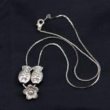 Kleine vis-vormige zilveren halsband royalty-vrije stock foto's