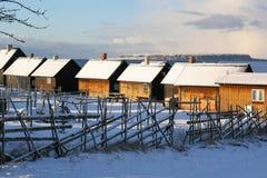 Kleine visserij huts.JH royalty-vrije stock afbeeldingen