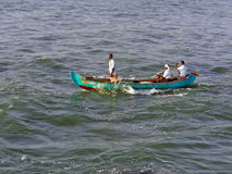 Kleine Vissersboot in Kerala Royalty-vrije Stock Foto's