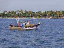 Kleine Vissersboot in Kerala Royalty-vrije Stock Afbeeldingen
