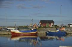 Kleine Vissersboten in Hörvik-Haven, Zweden Royalty-vrije Stock Foto's