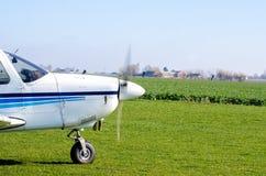 Kleine vliegtuig voorpropeller  Stock Foto's