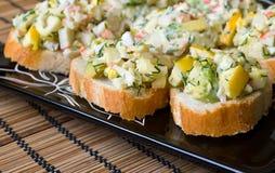 Kleine voorgerechten met avocado Royalty-vrije Stock Foto