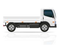 Kleine vrachtwagen voor de vectorillustratie van de vervoerslading Stock Afbeeldingen