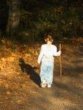 Kleine Wanderung im frühen Herbst Lizenzfreies Stockbild