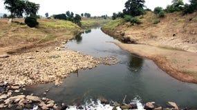 Kleine Wassernebenflusslandschaft Lizenzfreies Stockbild