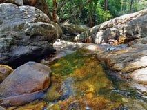 Kleine Waterstroom binnen Bos Royalty-vrije Stock Afbeelding
