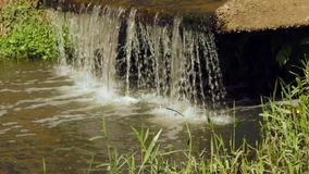 Kleine waterval in de tuin stock video