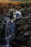 Kleine waterval in het zonlicht Royalty-vrije Stock Fotografie