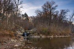 Kleine Waterval op de Potomac Rivier Royalty-vrije Stock Foto's
