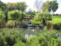 Kleine watervallen in messuage Meghigorye stock foto