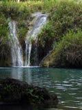 Kleine Watervallen in Semuc Champey, Guatemala royalty-vrije stock foto's